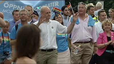 Swedish PM marches in Stockholm Pride Parade