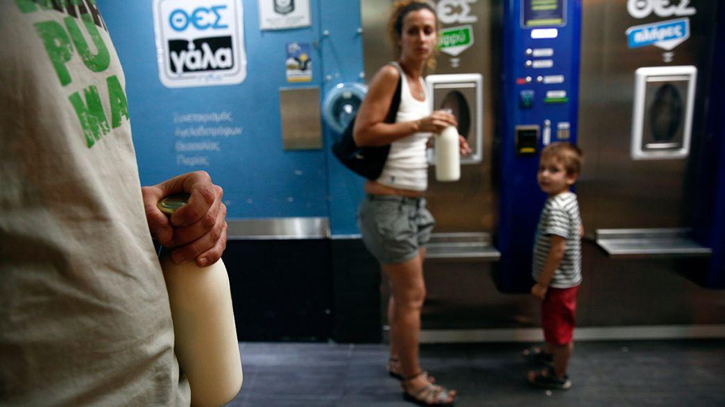 Ces distributeurs automatiques de lait grec qui font fureur