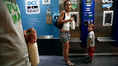Vending machines a lifeline for Greek milk farmers