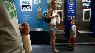 Grecia: una nueva forma de vender leche