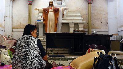Symbol der Solidarität mit den Christen im Irak ن - auch Jesiden verfolgt