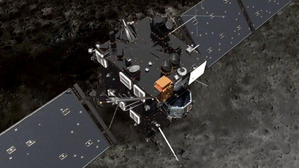 Rosetta uzay mekiği, kuyruklu yıldızı inceliyor