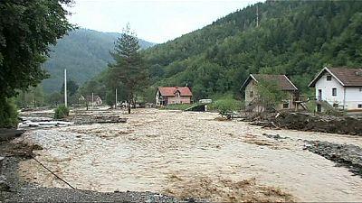 Second round of severe floods hit Bosnia farming village