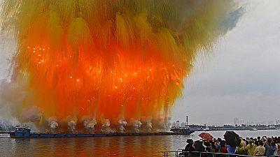 China: daytime fireworks