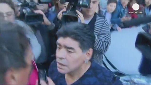 Watch: Argentinian idol Maradona slaps journalist in Buenos Aires