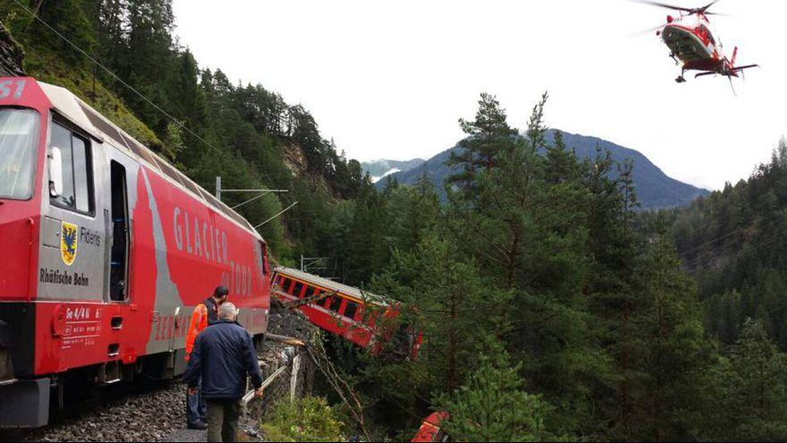 Kisiklott egy vonat Svájcban