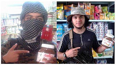 Bilder vom IS-Terror auf Twitter: Dschihadisten mit Nutella