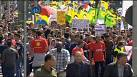 Pro-Kurdish and Yazidi protests in France and Germany