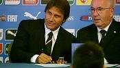 New Italy football coach Antonio Conte brushes aside controversy over his pay