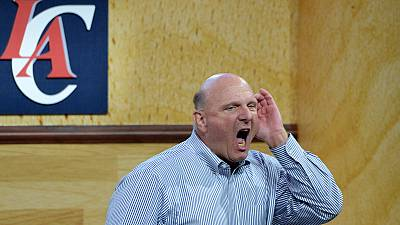 LA Clippers owner Steve Ballmer meets the fans