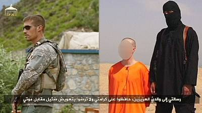 "Islamic State militants video ""beheading "" of US reporter"