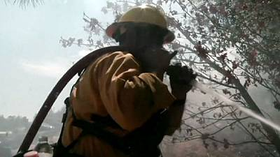 Wildfire near Yosemite National Park reduced