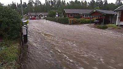 Sweden floods at 'catastrophic levels'