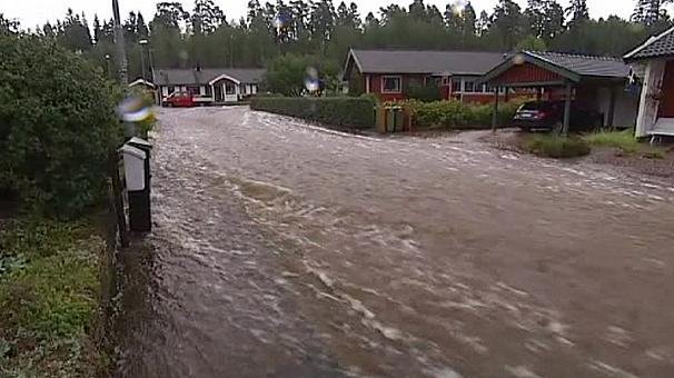 Sweden floods at 'catastrophic levels'