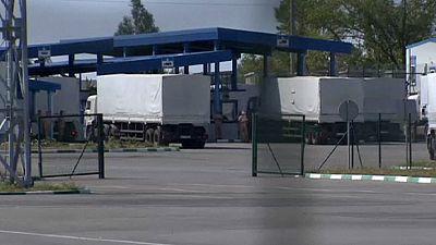 Russian aid convoy crosses into Ukraine