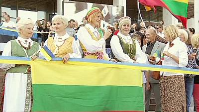 Anniversary of the Baltic chain marked in Ukraine