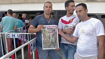 Fans pay tribute to striker Ebosse