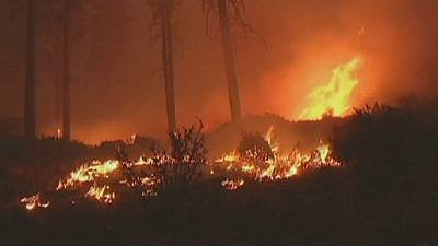 Wildfire rages in Northern California