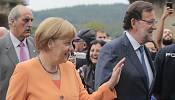 Protests greet Merkel in Galicia visit