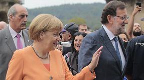 Protests greet Merkel in Galicia visit