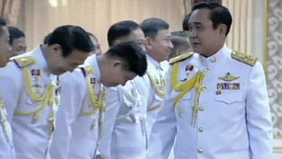 Thailand coup leader Prayuth sworn in as PM