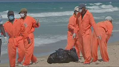 Dozens of migrant bodies are washed ashore in Libya