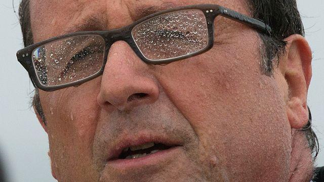 François Hollande'ı bu kötü havalar yaktı