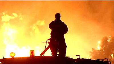 Waldbrand auf dem Peloponnes