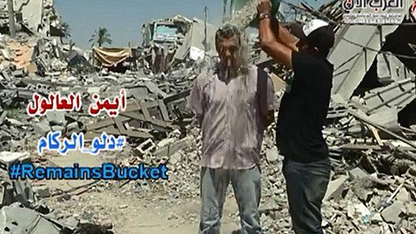 Le « Rubble Bucket Challenge » en signe de solidarité avec les gazaouis