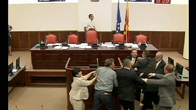 Fight club in Macedonian Parliament session – nocomment
