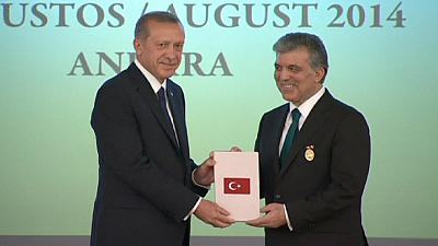 New Turkey President Erdogan says priorities include EU accession