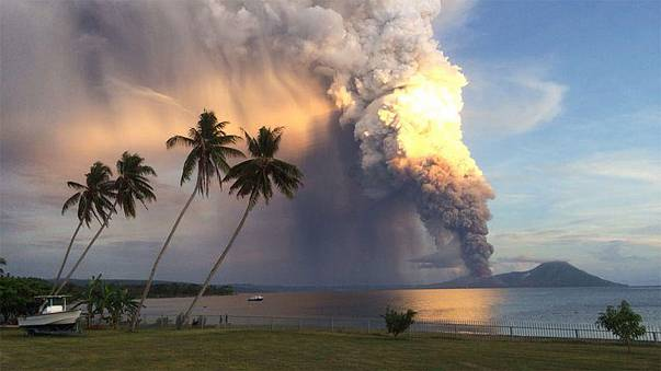 Watch: huge plume of smoke after eruption in Papua New Guinea