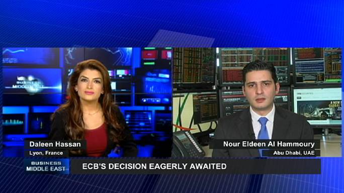 الأعمال في الشرق الاوسط:المستثمرون العرب بانتظار قرارات البنك المركزي الأوروبي