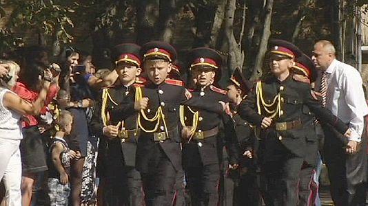 Rentrée au pas pour les cadets de Kiev