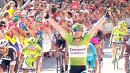 Degenkolb celebrates a third stage win at Vuelta