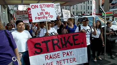America goes hungry as fast food workers strike for better pay