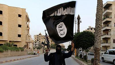 Protest gegen Terroristen: Junge Libanesen verbrennen IS-Flagge