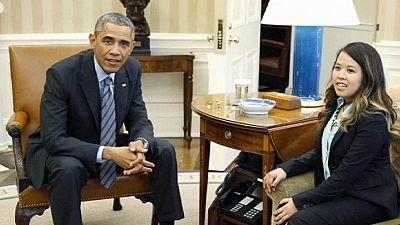 US Ebola-free nurse meets the President