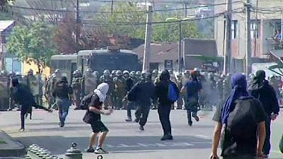 Clashes in Chile on anniversary of coup – nocomment