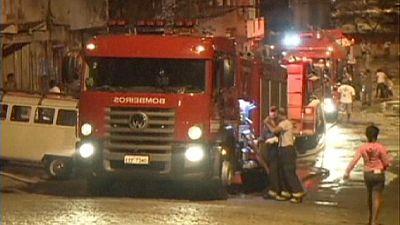 Blaze devastates Sao Paulo's Campo Belo district