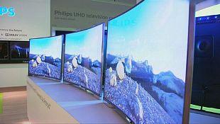 Ecrãs de televisão curvos apresentados em Berlim