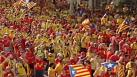 Catalans protest for independence in Spain