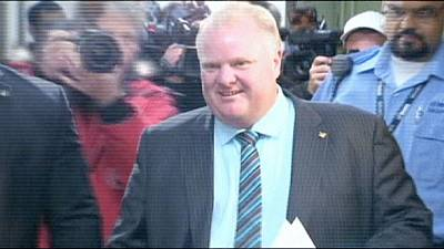 Cocaine-smoking mayor of Toronto forced to step down after tumour diagnosis