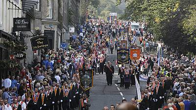Orange Order rally in Edinburgh ahead of referendum vote