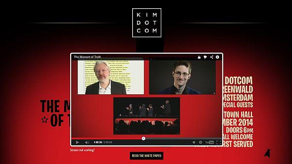 Snowden, Assange, Dotcom rally against surveillance in New Zealand