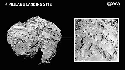 Scientists chose site for Rosetta probe landing on comet