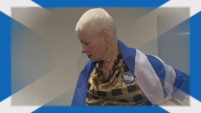 Westwood puts Scottish independence on the catwalk in a cool London Fashion Week