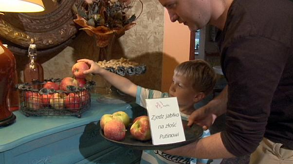 """Comer maçãs polacas contra a Rússia: """"É um dever patriótico!"""""""
