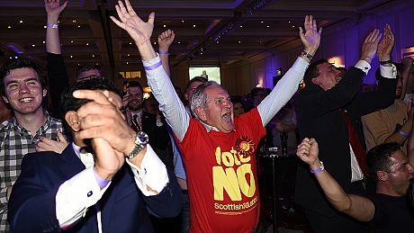 Live: Scottish independence verdict nears