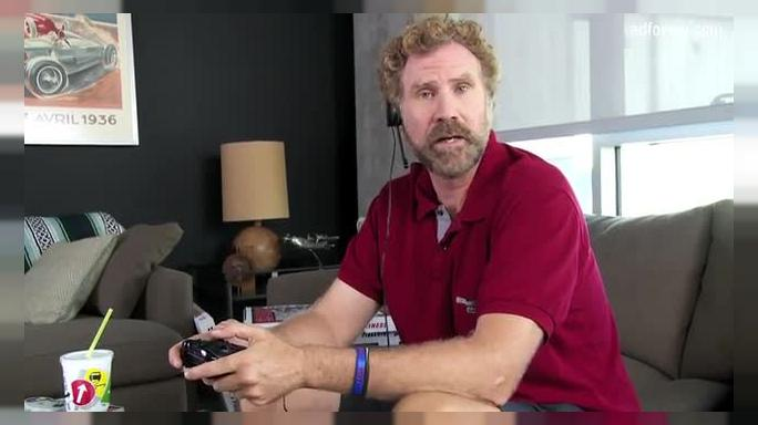 Will Ferrel Plays Video Games For Charity (Cancer for College )